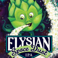 Elysian Space Dust IPA label