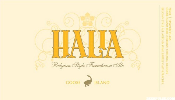 Goose Island Halia label