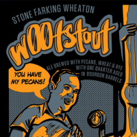 w00tstout beer label alternative
