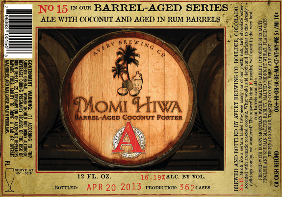 Avery Momi Hiwa label
