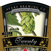 Avery Twenty XX IPA label