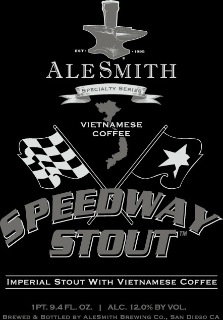 Alesmith Vietnamese And Barrel Aged Speedway Stout
