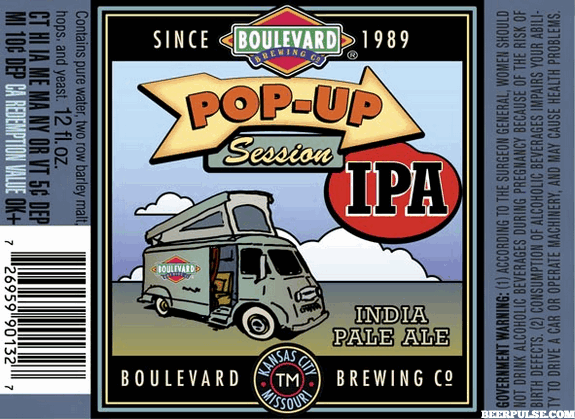 Boulevard Pop-Up Session IPA label