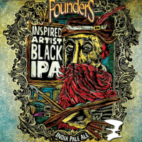 Founders Inspired Artist Black IPA label