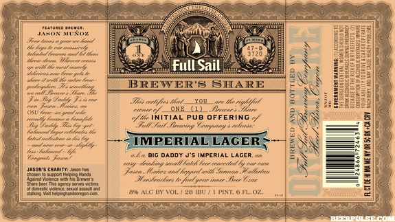 Full Sail Big Daddy J's Imperial Lager