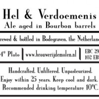 De Molen Bourbon Barrel Aged Hel and Verdoemenis Imperial Stout