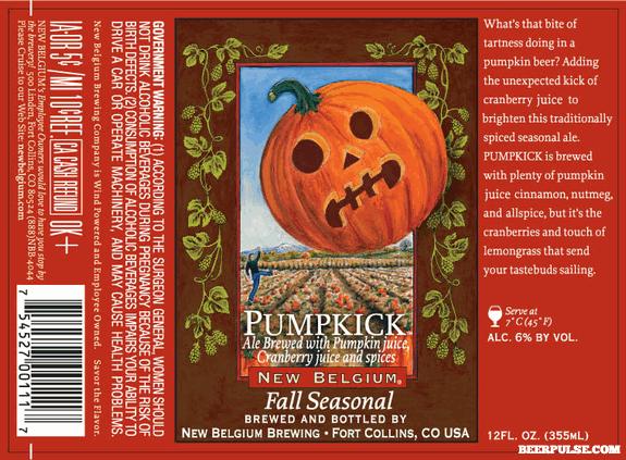 New Belgium Pumpkick Pumpkin Ale