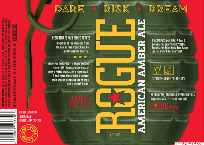 Rogue Ales to salute Armed Forces with American Amber Ale 16