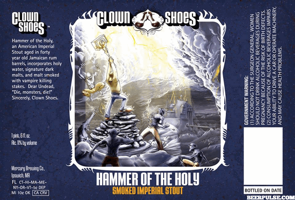 Clown Shoes Hammer of the Holy label