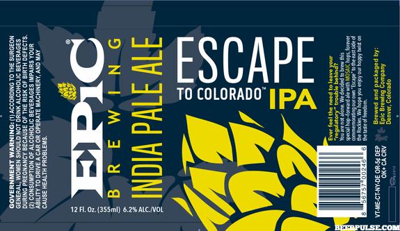 Epic Escape to Colorado IPA label