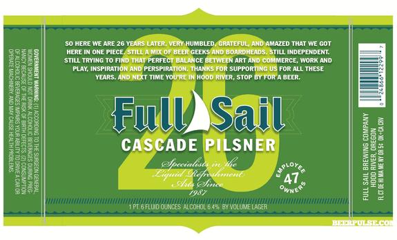 Full Sail 26 Cascade Pilsner