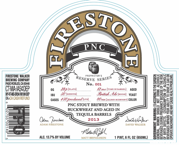 Firestone Walker PNC Stout Aged in Tequila Barrels