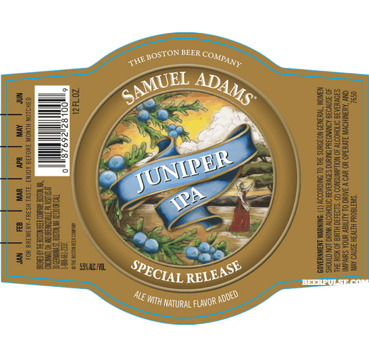 Samuel Adams Juniper IPA body label