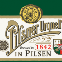 Pilsner Urquell retro label