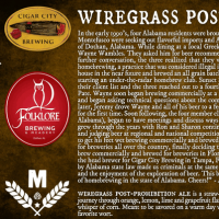 Cigar City Wiregrass Post-Prohibition Ale
