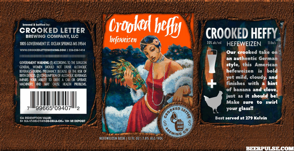 crooked letter brewing crooked letter crooked heffy hefeweizen beerpulse 21249 | crooked heffy