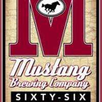 mustang sixty-six american amber lager label
