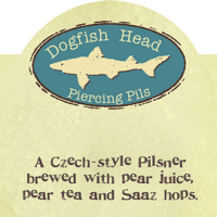 dogfish head piercing pils label