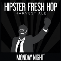 Monday Night Hipster Fresh Hop Harvest Ale label
