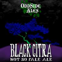 Odd Side Black Citra Not So Pale Ale label