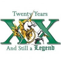 legend brewing xx anniversary logo