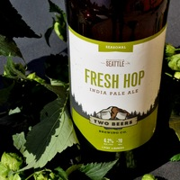 two beers fresh hop ipa bottle