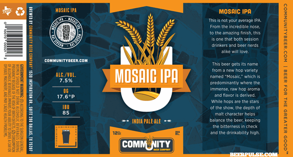 Community Mosaic Ipa Beerpulse