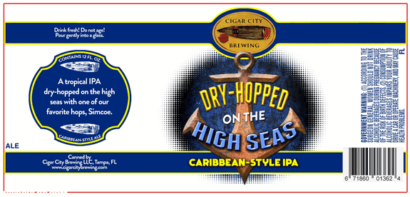 Cigar City Dry-Hopped on the High Seas Caribbean-style IPA