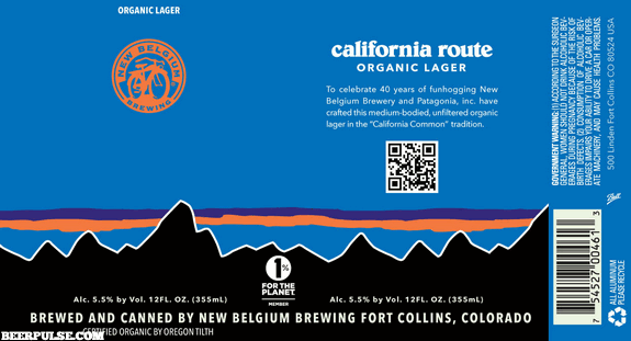 New Belgium California Route Organic Lager