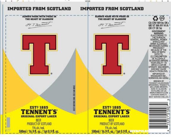 Tennent's Original Export Lager   BeerPulse