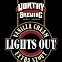 Worthy Lights Out Vanilla Cream Extra Stout label