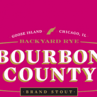 Goose Island Backyard Rye Bourbon County Brand Stout label