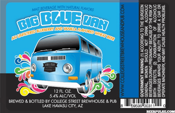 College Street Big Blue Van Wheat Beer Beerpulse