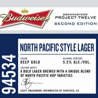 Budweiser Batch No. 94534 label