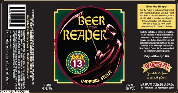 Woodstock Inn Beer the Reaper Imperial Stout | BeerPulse