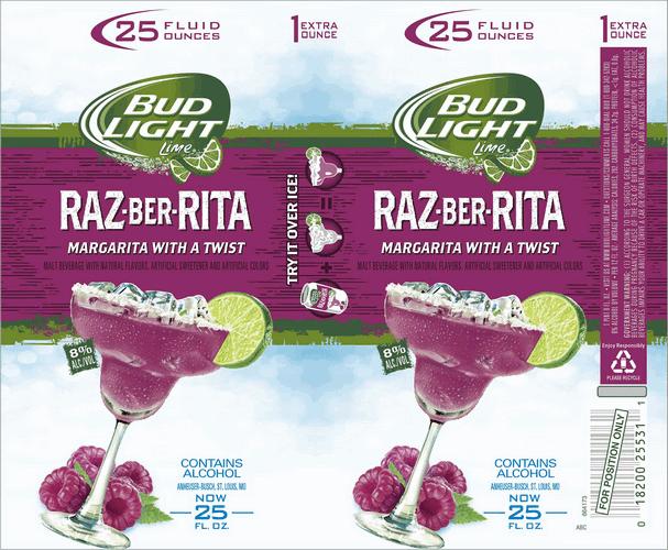 Bud Light Lime Raz Ber Rita Margarita