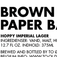 To Øl Brown Paper Bag Hoppy Imperial Lager