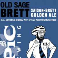 Epic Old Sage Brett Wine Barrel Aged Saison-Brett Golden Ale