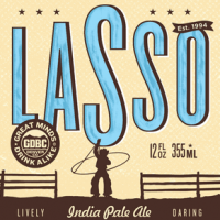 Great Divide Lasso IPA label