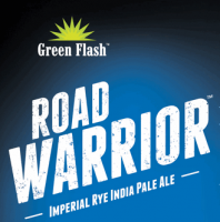 Green Flash Road Warrior Imperial Rye IPA label