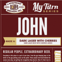 Lakefront John Dark Lager with Cherries