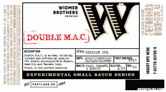 Widmer Brothers Double Mac Session IPA
