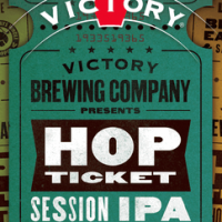 victory hop ticket session ipa label