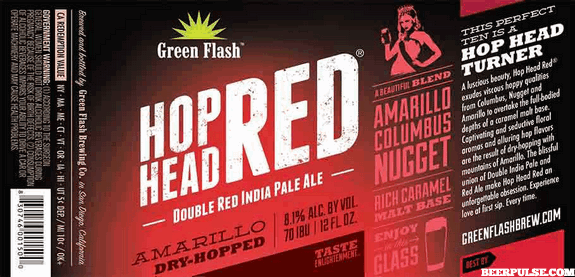 Green Flash Hop Head Red Double Red IPA