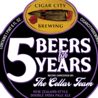 Cigar City 5 Beers for 5 Years New Zealand Style Double IPA