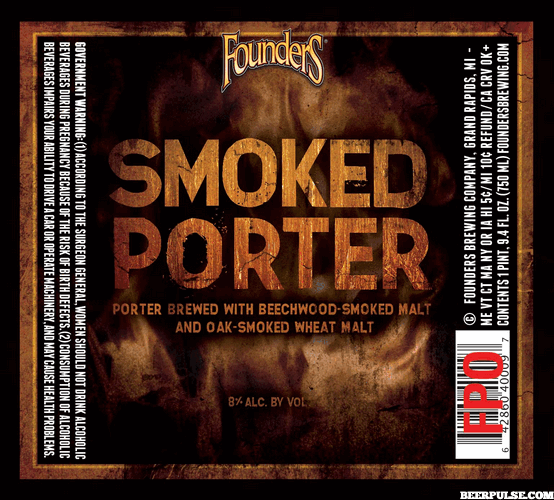 Founders Smoked Porter label