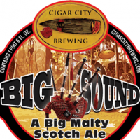 Cigar City Big Sound Scotch Ale label