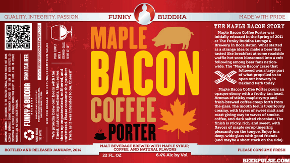 Funky Buddha Maple Bacon Coffee Porter label