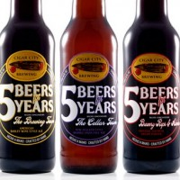 Cigar City 5 Beers for 5 Years bottles