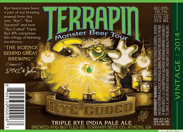 Terrapin Rye Cubed label